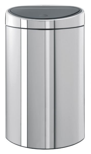 Brabantia Prullenbak 40 Liter.Brabantia Touch Bin Halfronde Afvalbak Met Touchdeksel 40 Liter Rvs